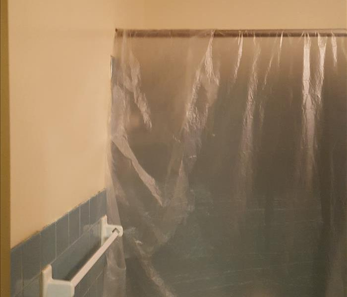 Mold Remediation in Bathroom Before