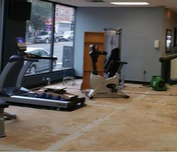 Commercial Water Damage In Local Gym