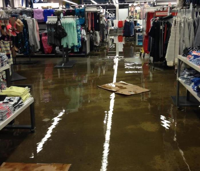 Building Services Flooding in Department Store